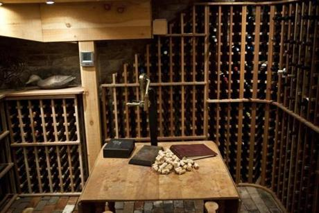 In the basement, there is a 1,000-plus-bottle wine room, humidity-controlled, and is large enough for private tastings for small groups.
